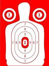 Red Police Pistol & Rifle Human Silhouette Shooting Targets - 19x25 - 31 Qty.