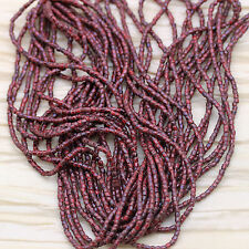 RARE!!! 9/0  3Cut Red Picasso Czech seed beads - 1hank - 10/18""