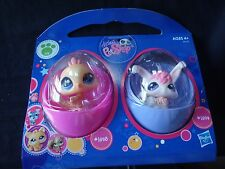 Littlest Pet Shop NEW Easter egg peacock 1893 Angora Rabbit 1894 set