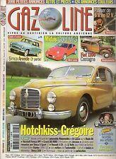 GAZOLINE 135 HOTCHKISS GREGOIRE SIMCA ARONDE 1957 58 MIDAS GOLD MK3 FIAT 1100 CA