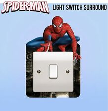 Spiderman Marvel Avengers Light Switch Surround Sticker Cover Vinyl Kids Bedroom