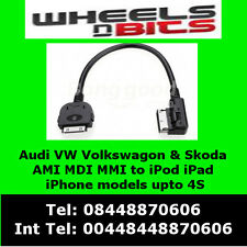 Audi A4 A5 A6 A7 A8 Q5 Q7 to AMI MDI MMI to iPod iPhone iPad Cable 4F0051510K
