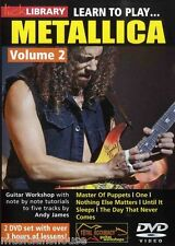 Lick Library Learn To Play Metallica Metal Master Of Puppets Guitarra Dvd Vol 2