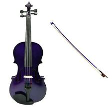 1/16 Size PURPLE VIOLIN & PURPLE BOW,CASE~ACOUSTIC STUDENT KID BEGINNER STARTER