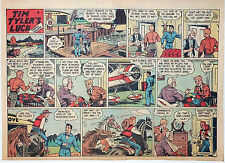 Tim Tyler's Luck by Young - large half-page color Sunday comic - July 14, 1946