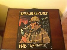 SHERLOCK HOLMES PUB ENGLISH WALL SIGN BY DAVE JACOBS VINTAGE RARE 221B BAKER ST