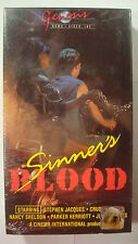 Sinner's Blood VHS 1987 Biker Gang Havoc 60s Cult Classic Style Torture Horror