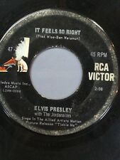 """ELVIS PRESLEY 45 RPM """"It Feels So Right"""" & """"(Such an) Easy Question"""" VG-"""