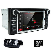 "6.2"" HD 2 Din Car DVD Player GPS Navigation Bluetooth for Toyota Universal+Cam A"