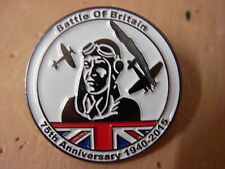 Battle of Britain 75th anniversary pin badge. 1940-2015. New item. Spitfire