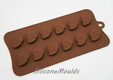 12 cell Small Skulls 6.5g Chocolate Candy Silicone Bakeware Mould Cookie Soap
