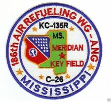 MISSISSIPPI AIR NATIONAL GUARD PATCH, 186TH AIR REFUELING WG, KC-135R,C-26    Y