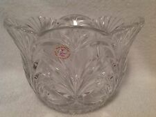 Clear 24% Lead Crystal Fruit/Dessert Bowl/Dish Hand Cut Made in Poland  NICE!