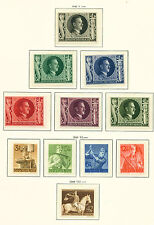 Germany WW2 Third Reich scenes stamps collection page 1943 MLH/NH