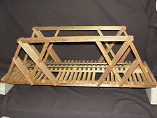 "Custom Scratch Built 34"" Wooden G-Scale Truss Bridge For LGB Garden Train Layout"