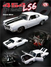 ACME 1970 Chevrolet Chevelle Classic White/Black Stripe Limited pcs 1:18 New*