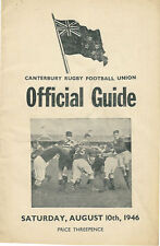 Technical Old Boys, Training College 10 Aug 1946 Canterbury NZ Rugby Programme