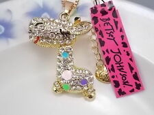 Betsey Johnson fashion jewelry Cute Crystal giraffe pendant necklace # A406