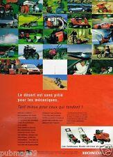 Publicité advertising 1995 Les Tondeuses et motoculteurs Honda