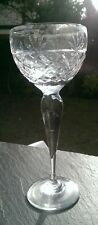 "Royal BRIERLEY Crystal - BRUCE Cut - Hock Wine Glass - 7 5/8"" Signed."