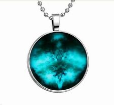 Vogue Punk Style EvergreenTree Glow in the Dark Stainless Steel Necklace Pendant