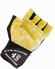 Mens Heavy Duty Weightlifting Gym,Cycling Leather Sports Gloves Strap XXLarge