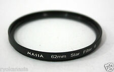 Massa Star Filter 6 Optical Lens 62mm Canon Nikon DSLR Camera Accessory ~ryokan