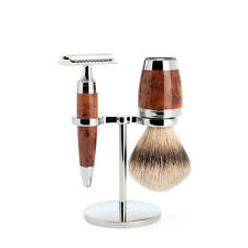 Muhle STYLO Luxury Thuya Wood 3 Piece Closed Comb Double Edge Safety Razor Set