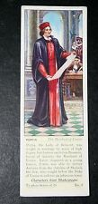 The Merchant of Venice    Shakespeare   Portia  1930's Vintage Card  # VGC