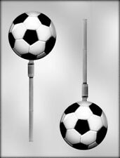 """SOCCER LOLLIPOP 3"""" CHOCOLATE CANDY MOLD MOLDS PARTY FAVORS SPORTS"""