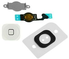 Home Menu Button Key Cap Gas Kit + Flex Cable + Bracket for Apple iPhone 5 WHITE