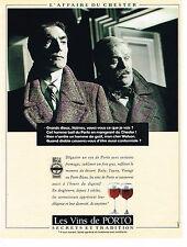 PUBLICITE ADVERTISING 094  1990  LES VINS DE PORTO   SHERLOCK HOLMES