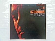 Charles Aznavour His Love Songs In English 1965 Reprise RS6157 1-C/1-C Press NM-
