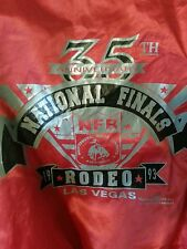 1993 VINTAGE NFR NATIONAL RODEO FINALS SATIN BUTTON UP JACKET RODEO AMERICA