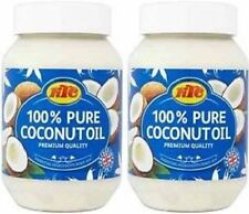 KTC 100% Pure Coconut Oil ,Hair, Skin, Cooking,Moisturiser, Edible, 2 X 500ml