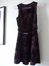 Brand New - NEW LOOK Women Floral Black and Burgundy Dress (Size UK 8) RRP 24.90