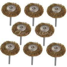 10Pcs 3mm Brass Wire Wheel Brush for Dremel Cup Rotary Tool Drill Rust Weld New