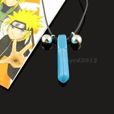 New Hot Naruto Hokage Uzumaki Blue Crystal Anime Tsunade Necklace Cosplay HYDG