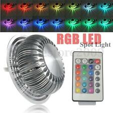 3W RGB Color Changing LED Ceiling Fixture Lamp Spot Down Light Remote Control