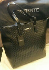 100%GENUINE TORRENTE COUTURE BLACK LEATHER TOTE LARGE SHOULDER BAG With Dustbag
