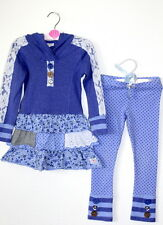 NAARTJIE Lacey Drop Set Tunic Dress Polka Dot Pants Purple Girl Size 3 VHTF