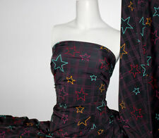 Star Print Lycra/Spandex 4 way stretch Matt Finish Fabric