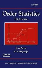 Wiley Series in Probability and Statistics: Order Statistics 326 by H. N....