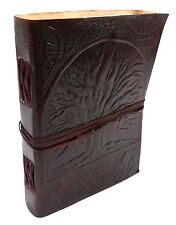 Firu Leather Diary - Tree of Life Handmade Paper Embossed Blank Leather Journal