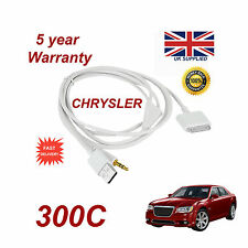 CHRYSLER 300C  MULTIMEDIA ADAPTER 71805430 iPhone iPod USB & Aux Cable in white