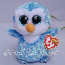 """NEW BY TY BEANIES BOOS STUFFED ~Ice Cube Penguin blue~6""""~stuffed doll toy"""