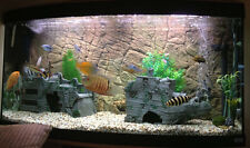 AQUARIUM BACKGROUND 3D THIN BEIGE  FOR 29g TANK SIZE: 30x18 - EASY TO INSTALL