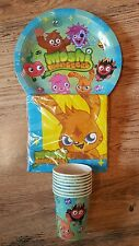 MOSHI MONSTER COMPLETE PARTY SET FOR 8 - BIRTHDAY PARTY - 8A