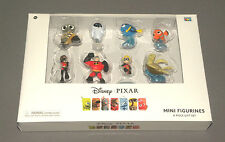 Disney Pixar Mini Figurines 8 Piece Gift Set w Wall-E, Nemo, Mr. Incredible, Eve