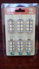 NEW Six 6 LED JC G4 Bi Pin 12V 18 SMD 5050 Tower Landscape Lighting Light Bulb
